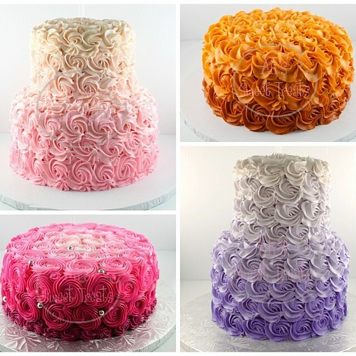 Ombre Rose Cakes Ombre Cakes Rose Birthday Babyshower