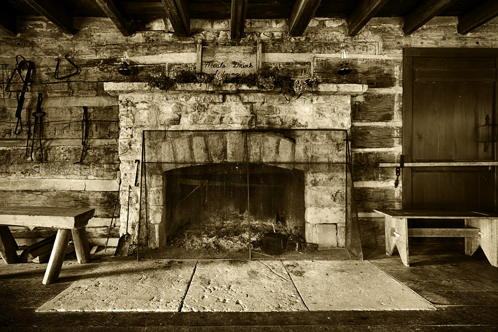 Tavern Fireplace | Tavern at Spring Mill State Park - Indian ...
