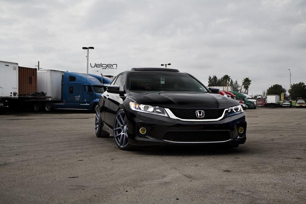 Honda Accord Coupe On Velgen Wheels Vmb5 Matte Gunmetal