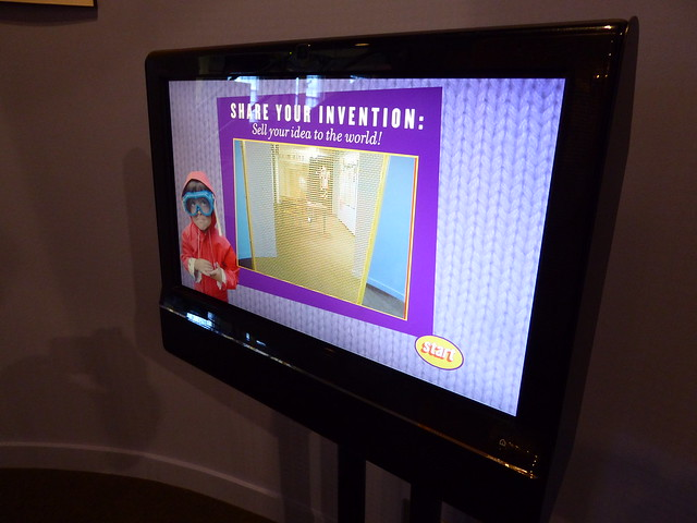 interactive area for children at American Textile History Museum