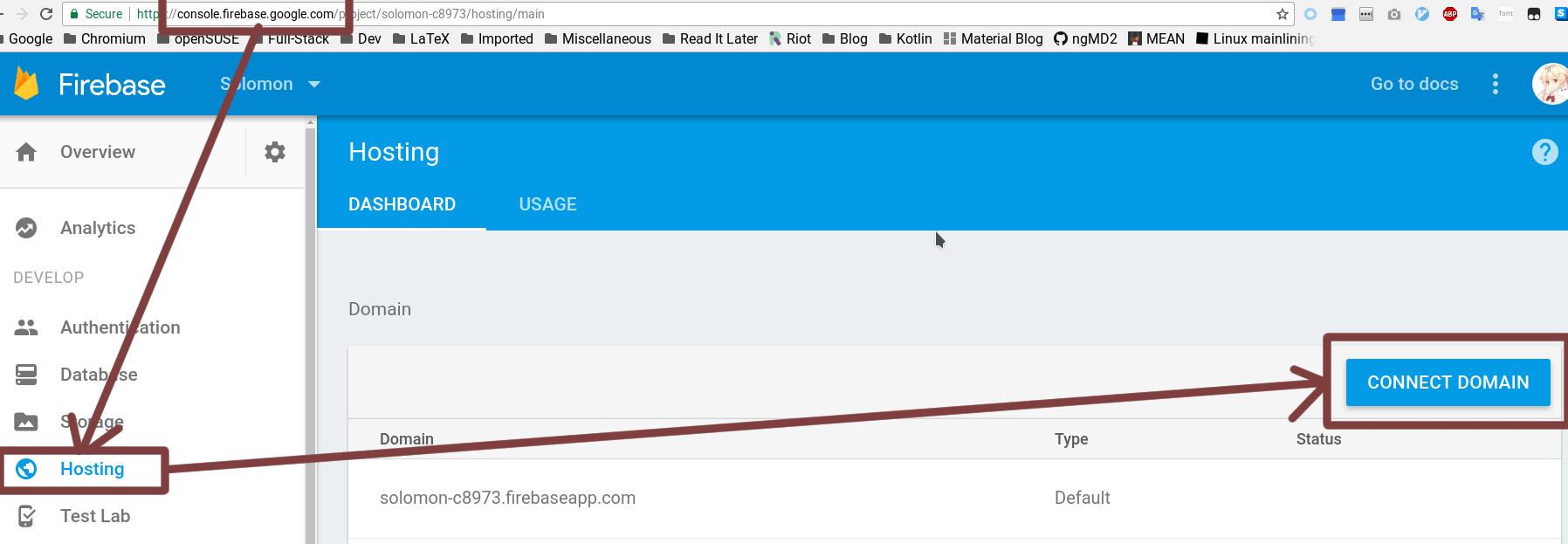 Open Firebase Console