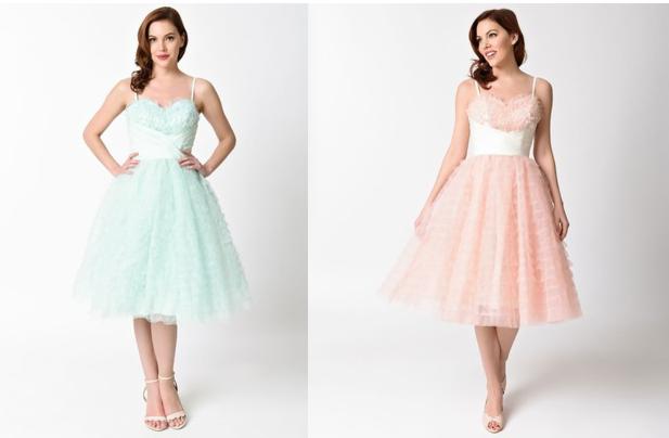 unique vintage pastel dress