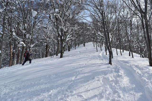 冬の守門岳 保久礼小屋から先の急登
