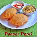 Paneer Poori Recipe - Poori varieties