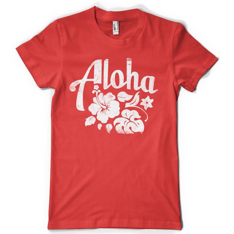 T shirt design 1274 aloha for Local t shirt printing companies
