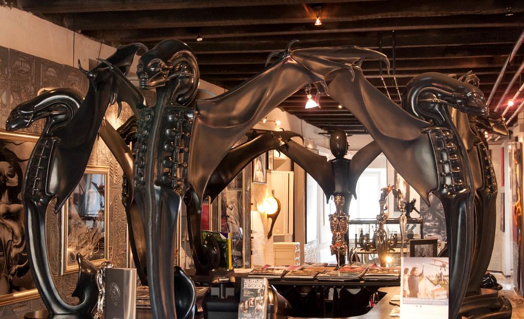 h r giger museum reception desk gruyere switzerland flickr. Black Bedroom Furniture Sets. Home Design Ideas