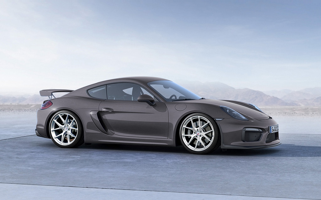 Porsche Cayman GT4 with HRE P101 in Brushed Clear | Render ...