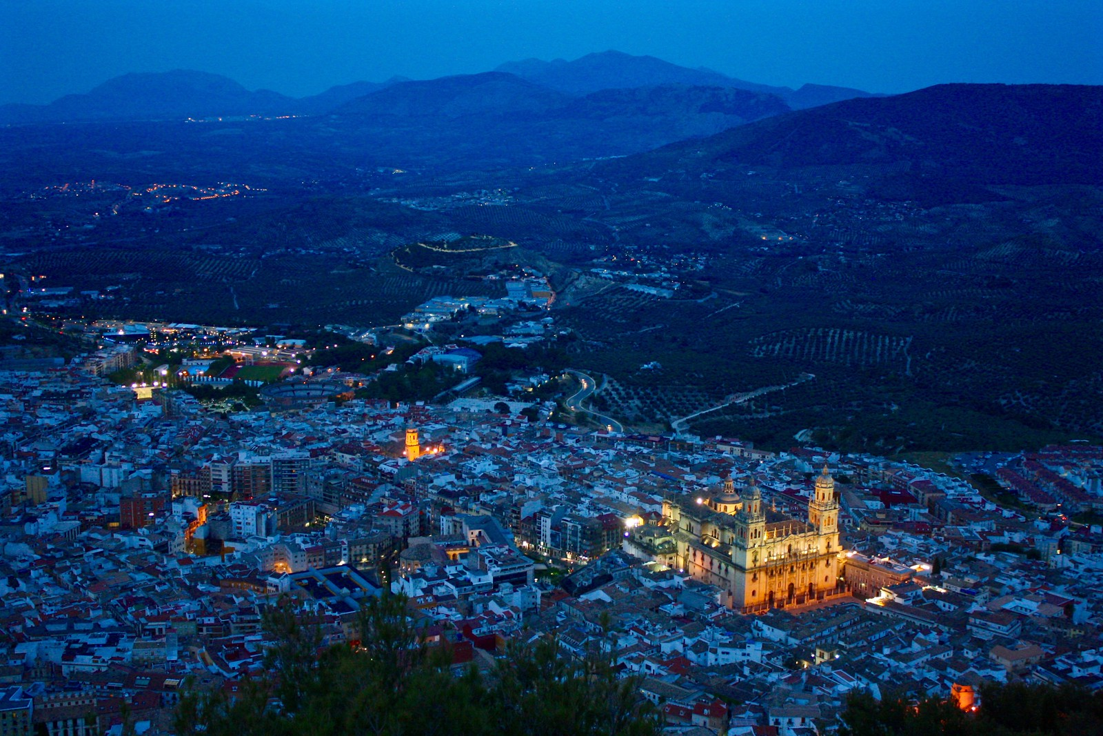Jaén at the Blue Hour