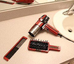 Hair Dryer, Brush, and Comb by David FNJ