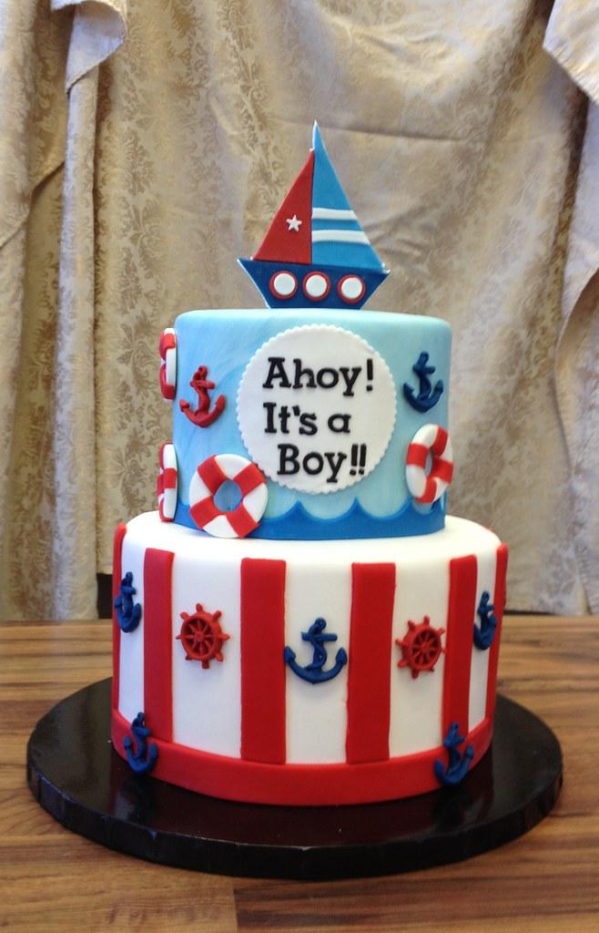 ahoy it 39 s a boy baby shower cake jenny wenny flickr