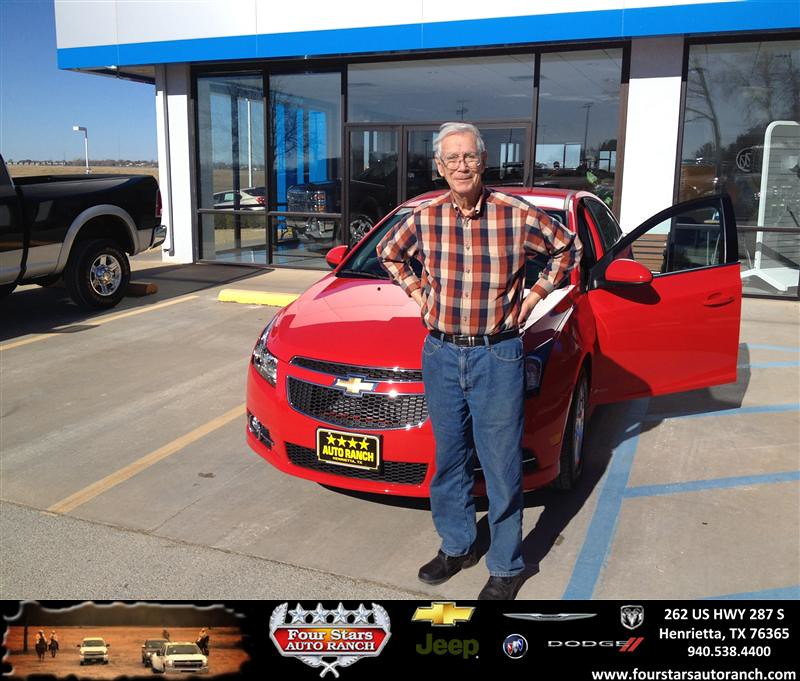 Four Stars Auto Ranch >> Thank you to Carlos Byars on your new 2014 #Chevrolet #Cru… | Flickr