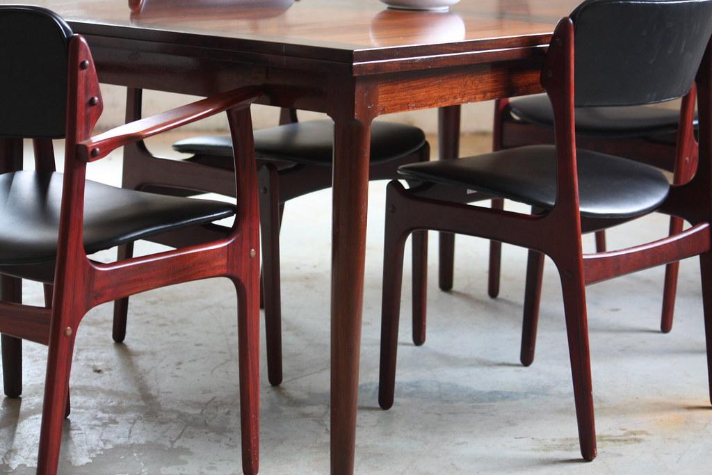 Arresting Danish Mid Century Modern Rosewood Dining Table     Flickr. Rosewood Danish Dining Table And Chairs. Home Design Ideas