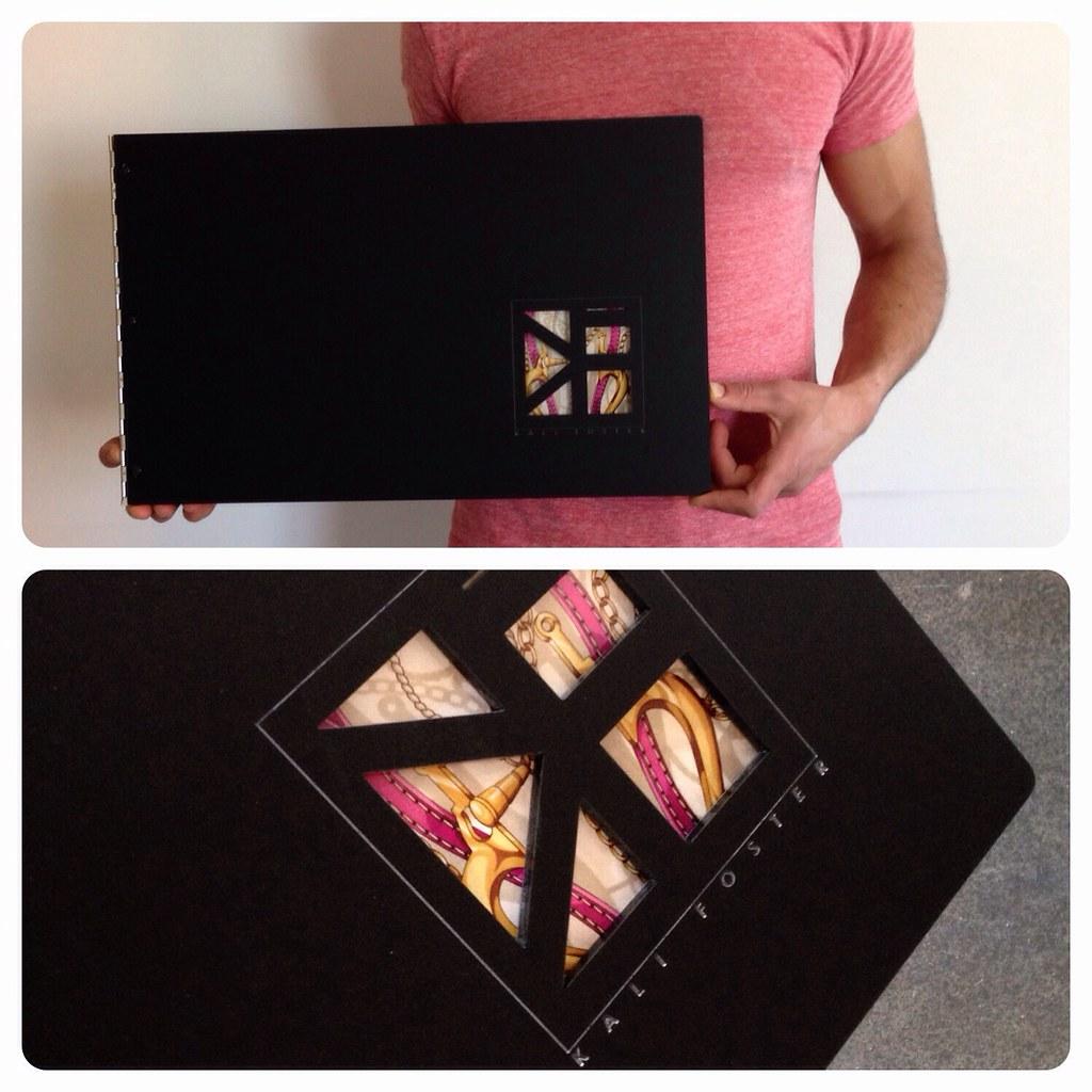 Graphic Design Portfolio Book Cover ~ Custom graphic design portfolio book with engraving and cu
