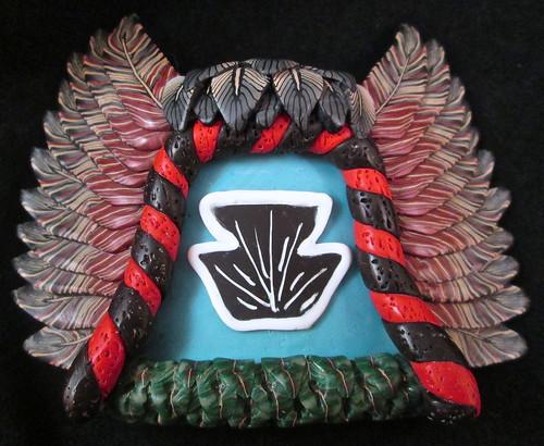 Crow Mother Kachina Mask/Tile/Pendant