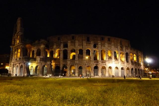 Colosseum at night   Flickr - Photo Sharing!