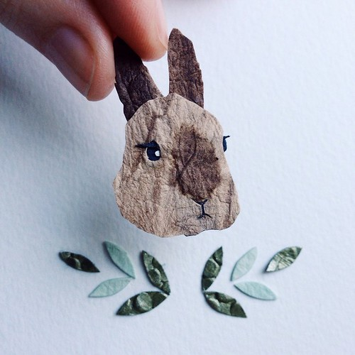 Mr Bunny Chap - Tiny Artwork by Tara Galuska