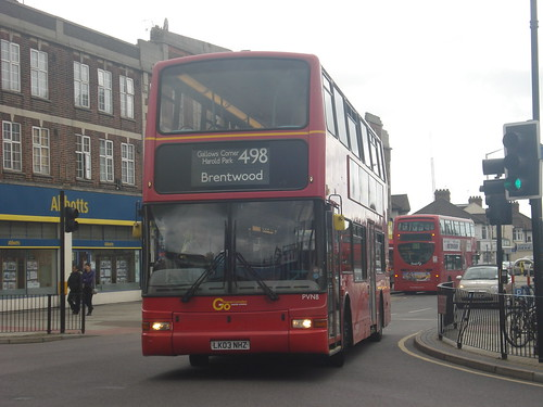 Blue Triangle PVN8 on Route 498, Romford Station