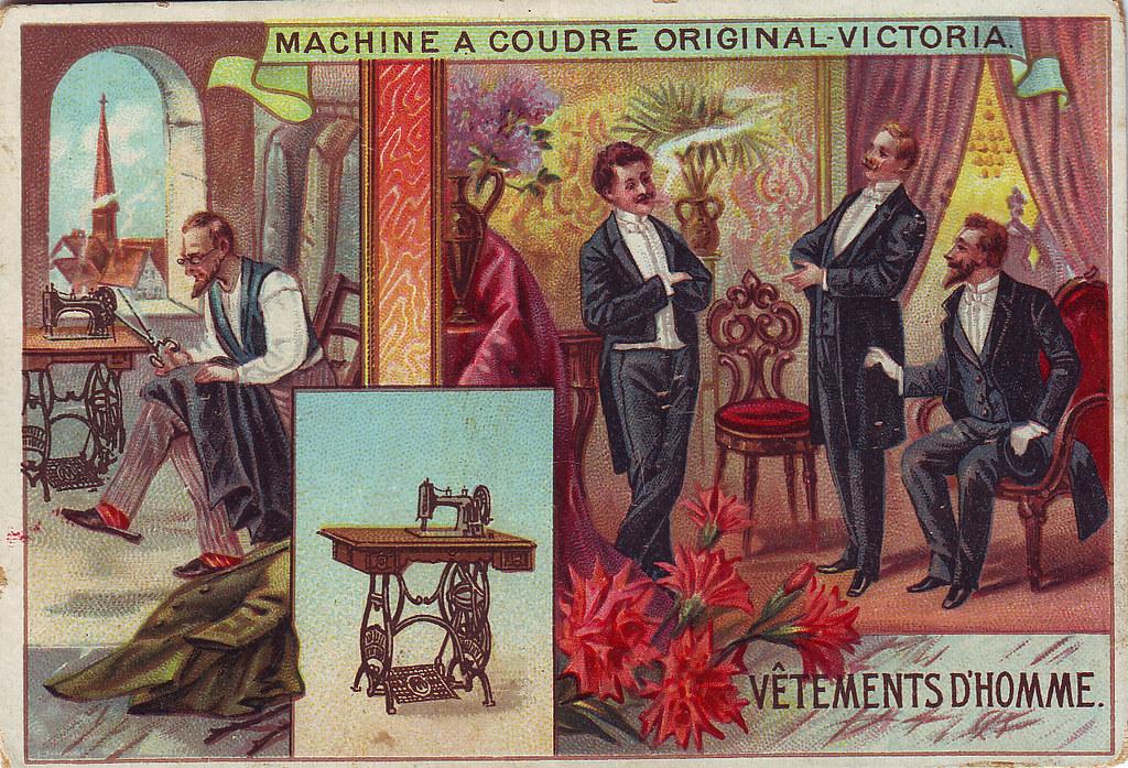 Chromo machine a coudre original victoria vetements d 39 ho for Machine a coudre victoria