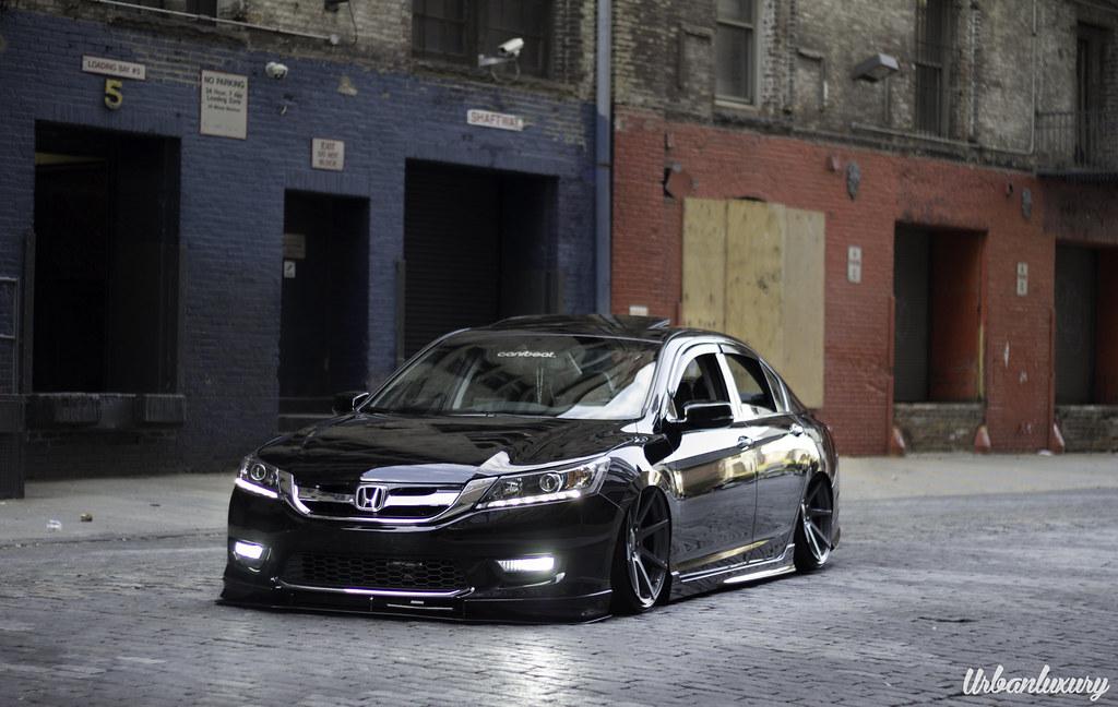 2013 Honda Accord Bagged on Velgen VMB8 20x10.5 Matte Gunm ...