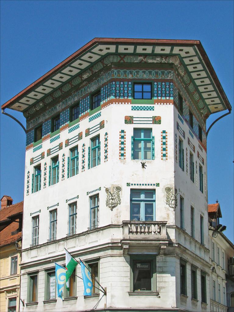 L 39 art nouveau ljubljana la maison hauptmann cette - Maison de l art nouveau ...