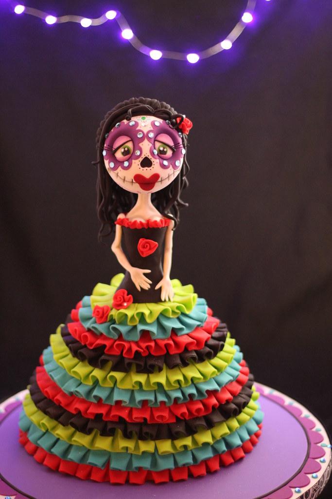 Sugar Skull cake | Andrea Sullivan | Flickr