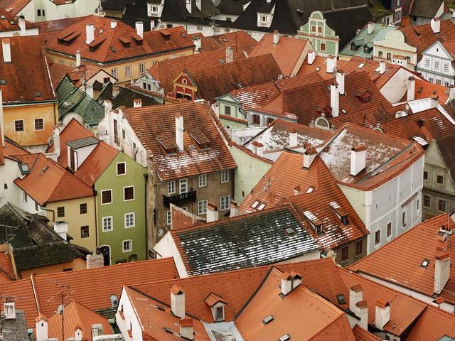 Tejados de Cesky Krumlov (Bohemia del Sur, República Checa)