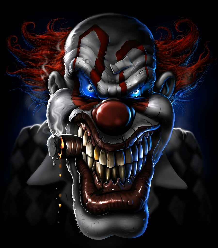 Crazy clown steve ferrante flickr - Dessin anime qui fait peur ...