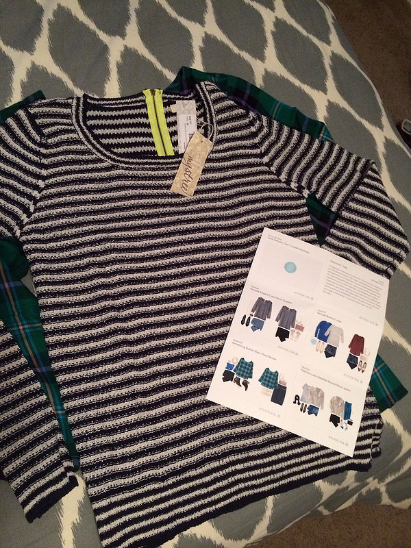 Mystree Arcadia Striped Crew Neck Sweater Stitch Fix February 2014