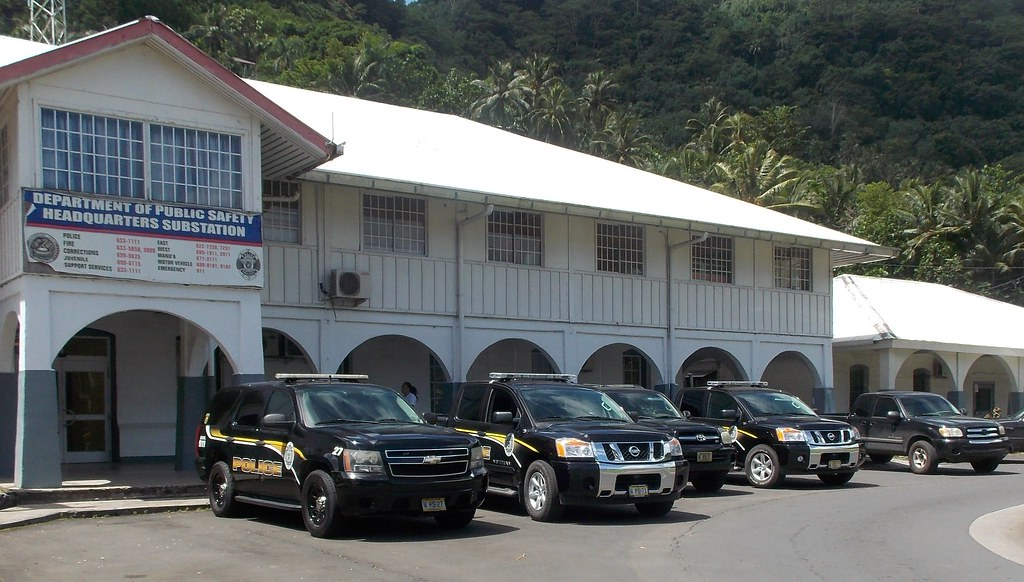 Pago Pago American Samoa Police Vehicles Department Of