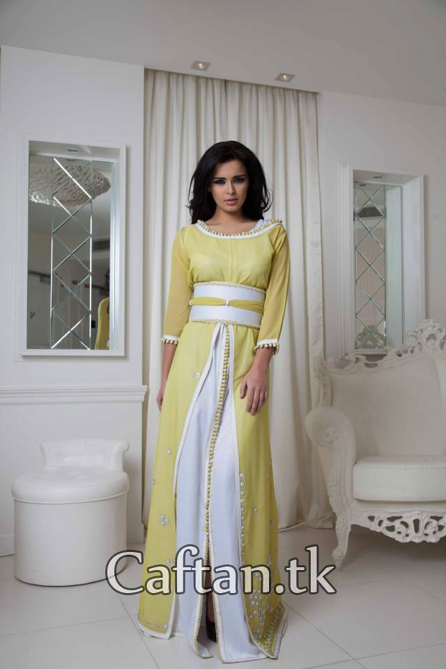 caftan moderne jaune et blanc site blog robe flickr. Black Bedroom Furniture Sets. Home Design Ideas