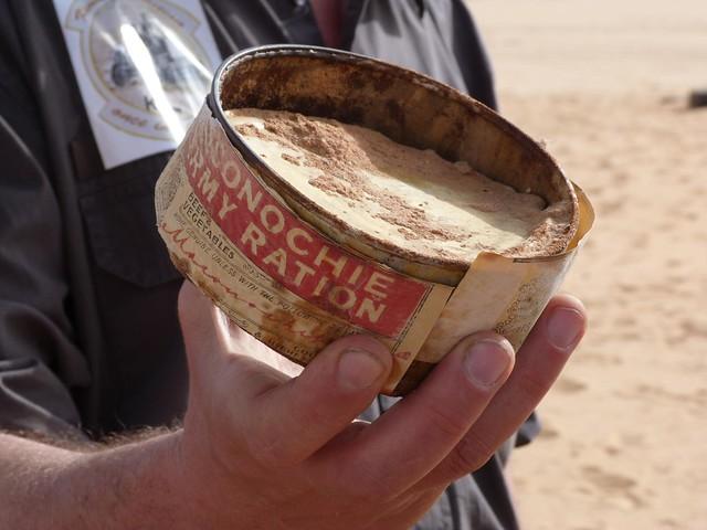 Lata de conservas encontrada en el desierto Líbico de Egipto