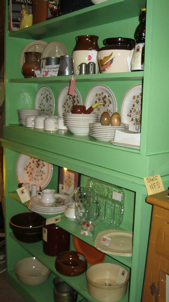 Stoneware Crocks And Other Vintage Pieces In The