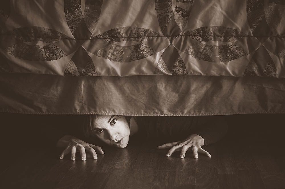 under my bed I believe in the monster under my bed, that has 4 arms, enormous teeth and will devour me in my sleep when i was younger i would always search my room for the.