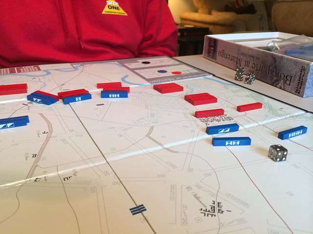 Playing Bonaparte at Marengo with Ken Rude. http://ift.tt/18SqQBG