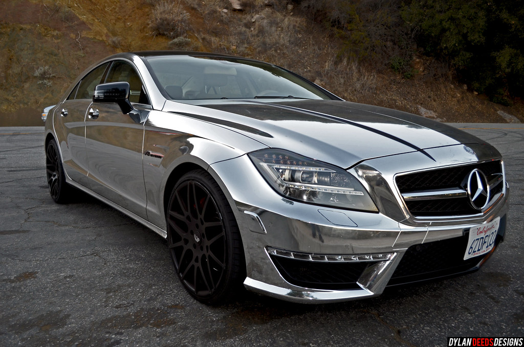 Chrome mercedes benz cls63 amg v8 biturbo dylan deeds for Mercedes benz amg v8 biturbo