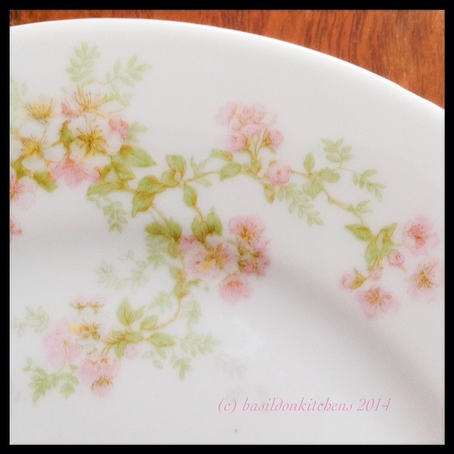 9/2/2014 - detail {I love the delicate detail of this Limoges side plate I found at a local antique shop} Too bad they only had one! #fmsphotoaday #antique #limoges #plate #dishes #pretty