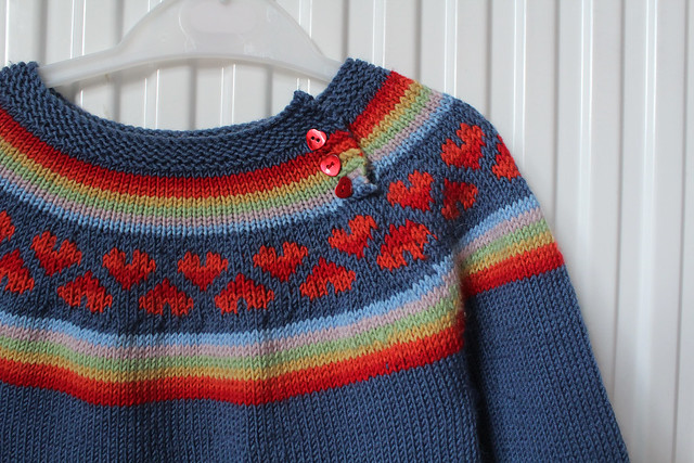 tin can knits rainbow baby jumper