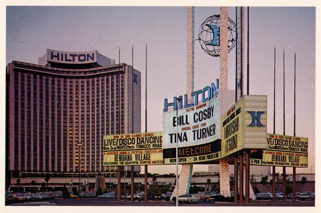Retro Las Vegas 1970s Las Vegas Hilton Postcard I Like