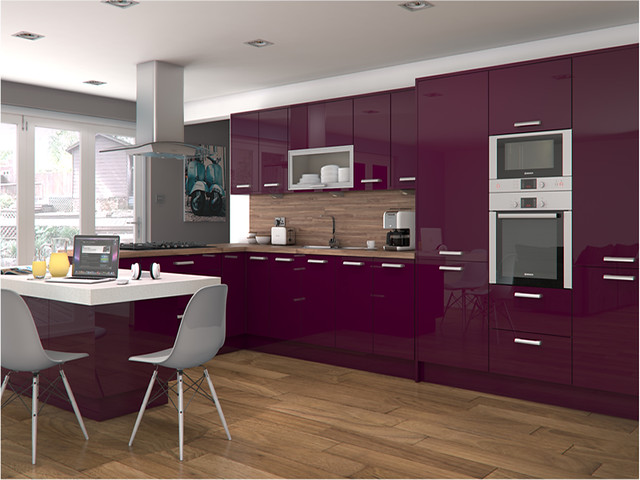 Altino violet kitchen flickr photo sharing for Black and purple kitchen ideas