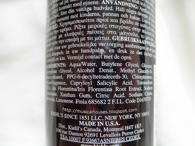 Kiehl's Iris Extract Activating Essence Ingredients