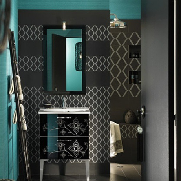 Turquoise and gray bathroom accessories for Turquoise and grey bathroom accessories