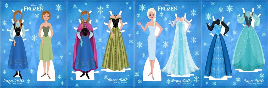 Frozen-paper Dolls | by