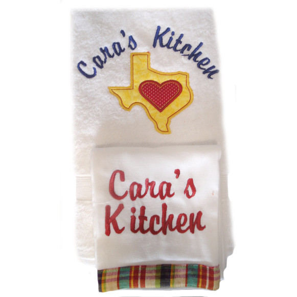 Custom Personalized Texas Kitchen Towel Gift Set Peg Bowles Flickr