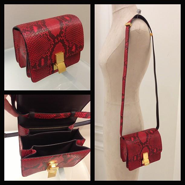 CELINE python mini box bag. $4550. Let me know if interested ...