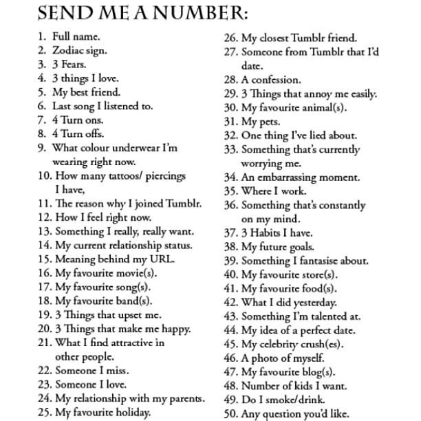 Kik send me a number game
