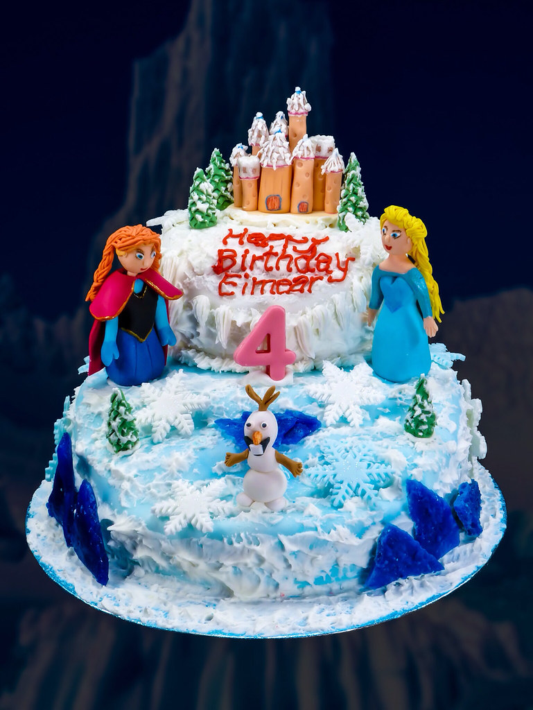 Frozen Bday Cake Design