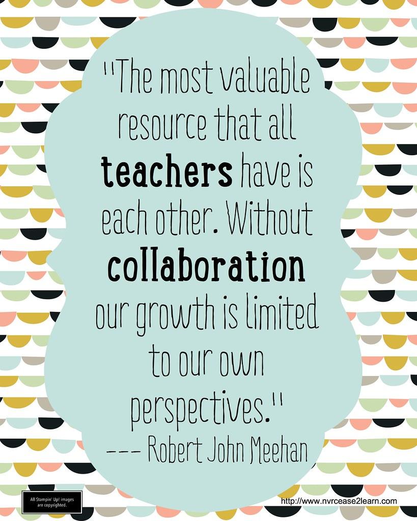 Collaborative Teaching New Zealand ~ Teachers collaboration robert j meehan never cease