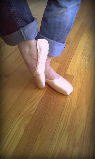 birthday pointe shoes