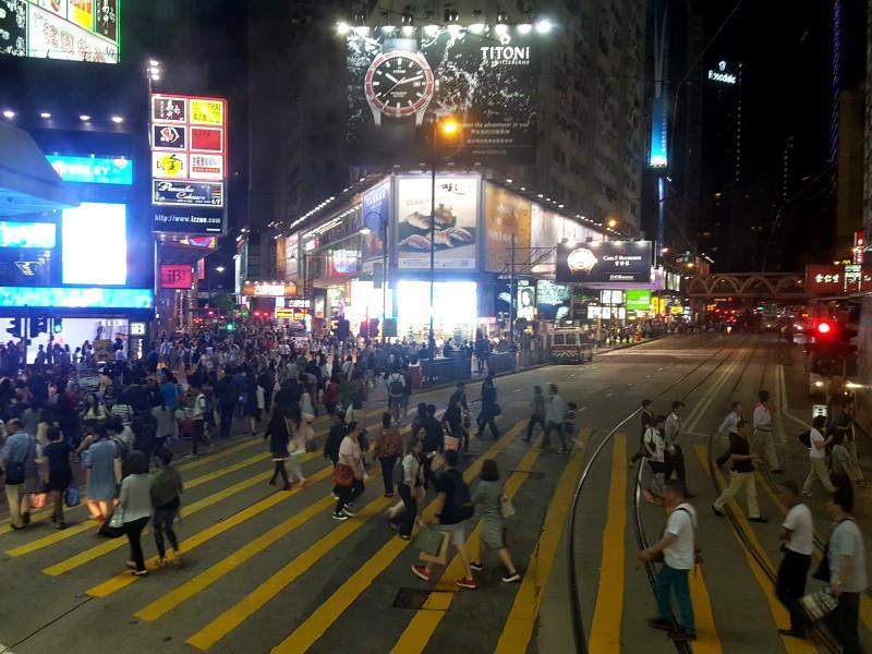Causeway Bay crossing Hong Kong