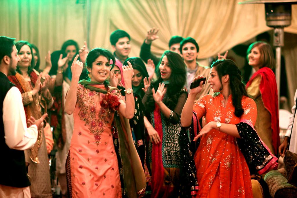 Mehndi Function Dance : Dancing at a pakistani mehndi function dance when you